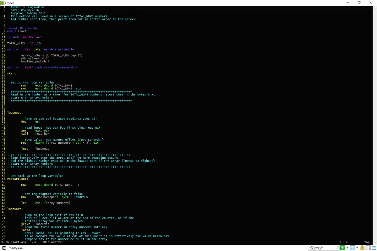 Updated Bubble Sort in x86 ASM