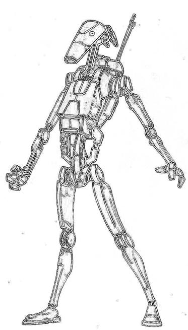Star Wars Droid Coloring Page Pictures to Pin on Pinterest
