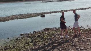 Will & Arthur skimming stones