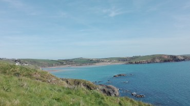 View to Bantham Beach from Burgh Island