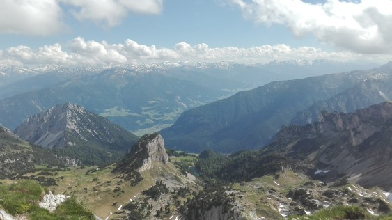 View from Hochiss, the peak with the T-shirt