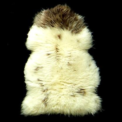 cream and brown dartmoor sheepskin