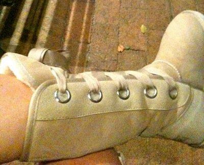 woman in ugg sheepskin boots