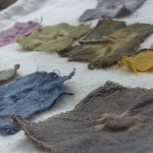 colour samples of natural dyes