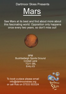 Poster for Mars event