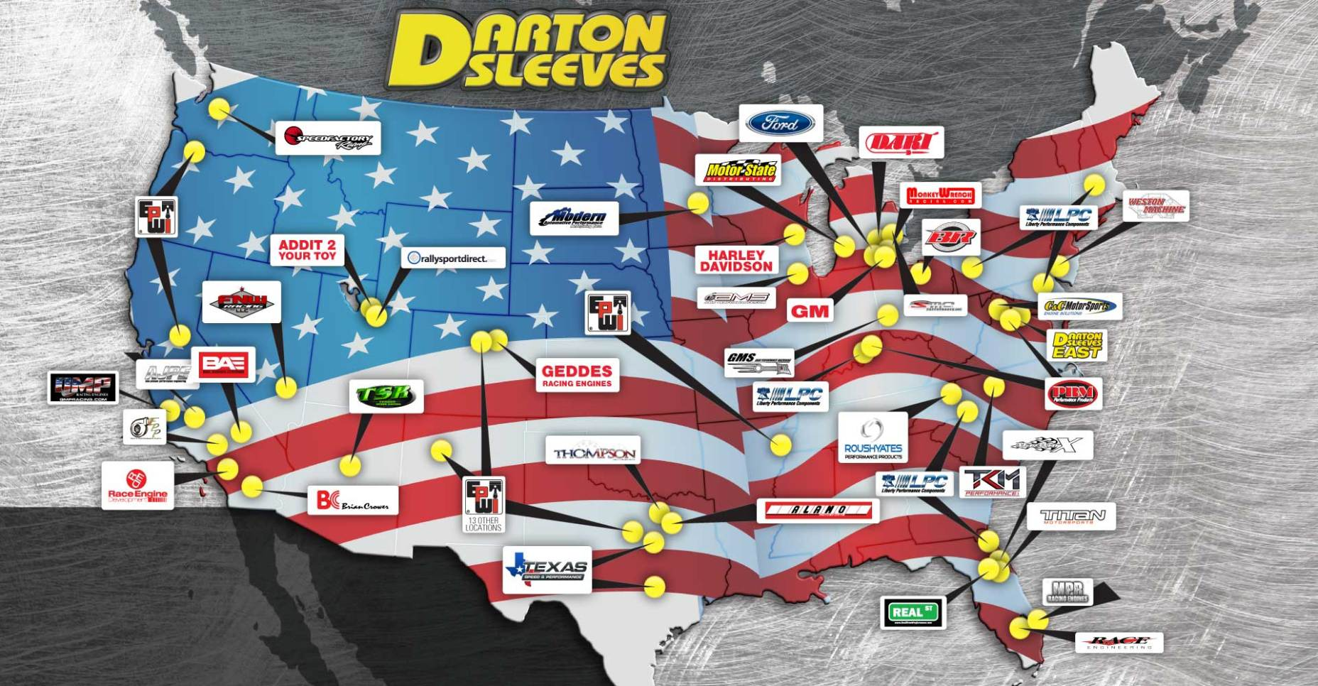 Darton Sleeves. Everywhere our customers want us to be.