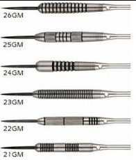 weight of darts