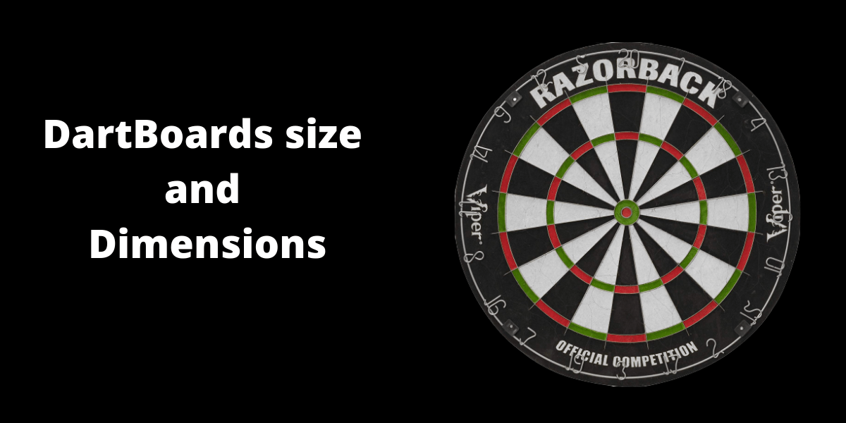 Dartboards size and dimensions