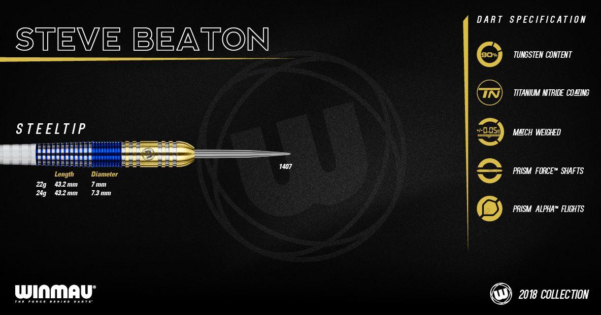 Winmau Steve Beaton 2018 Dart Set