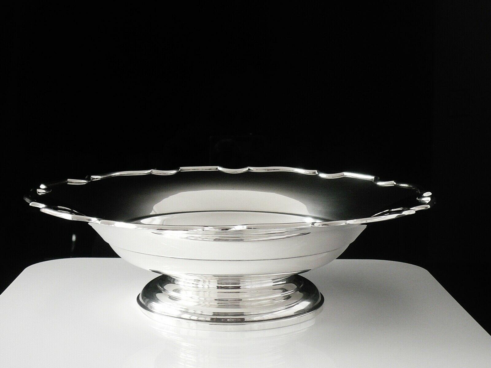 Sterling Silver Pedestal Dish Large Birmingham