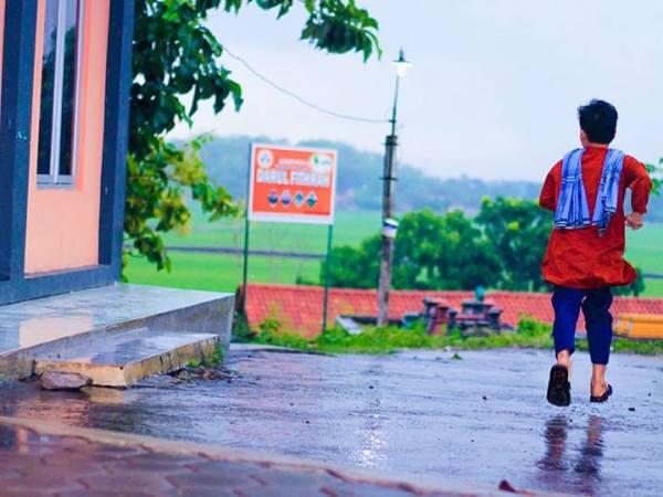 Hujan di Pondok tahfidz terbaik Darul Fithrah