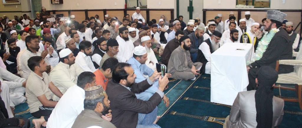 The large crowd was mesmerised by the beautiful recitations of the Qur'aan.
