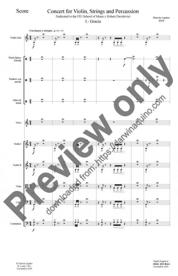 Concierto for violin - page 1