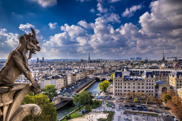 Best places to take pictures in Paris - Le Gardien De Notre-Dame by Darwin. Taken with a Canon 6D and Tamron SP 24-70mm Di VC lens.