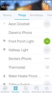 Samsung SmartThings Things