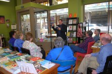 April 2, Union Ave Books in Knoxville. I am killing it with the relatives in the front row.
