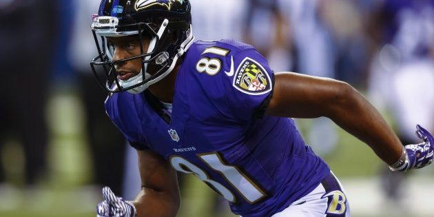 INDIANAPOLIS, IN - AUGUST 20: Keenan Reynolds #81 of the Baltimore Ravens is seen before the game against the Indianapolis Colts at Lucas Oil Stadium on August 20, 2016 in Indianapolis, Indiana.  (Photo by Michael Hickey/Getty Images)
