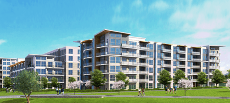 Dava Developments' Parc Riviera will add several condominums as well as park amenities to the River Dr corridor northeast of Bridgeport SkyTrain Station.
