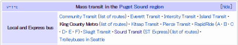 A quick look on the internet shows us there are many transit operators in the Puget Sound.