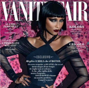 "Iman on the cover of Italian ""Vanity Fair."""