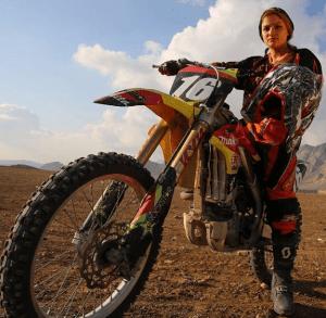 Behnaz Shafiei is a fearless female Iranian motorcross rider.