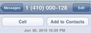 What to do when text message comes from an unfamiliar phone number?