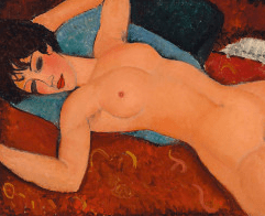 "The masterpiece: Armedo Madigliani's ""Reclining Nude."" It will soon hang at The Long Museum in Shanghai."