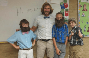"""""""Wacky Wednesdays"""" in teacher Chris Ulmer's class are all about celebrating being different. He says he wants his students to embrace different. And kindess."""