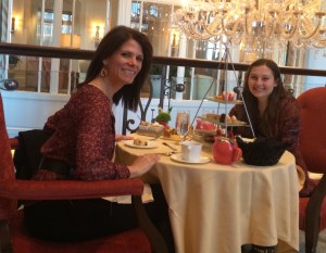 Daughter's and my annual tradition--going to high tea to celebrate anniversary of our adoption. No funnel cakes served, but the spirit is always there.
