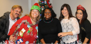 Some of the heroes who work at the Inland Regional Center at their holiday party earlier this week.