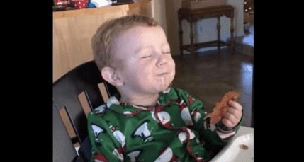 Bacon Love! Toddler Tastes Bacon For First Time