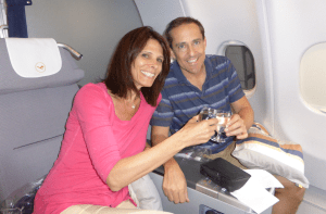 How are you going to get seats like these? Lufthansa Business Class to Munich.