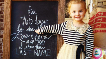 Heartwarming Instagram feed of foster kids celebrating their adoption. The first photo shows how many days each kid has been in foster care. The next celebrates their adoption.