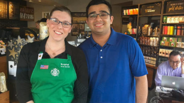 "New Starbucks barista learns ASL for a deaf customer and let's him know by passing this note. ""I have been learning ASL so you can have the same experience as everyone else."""