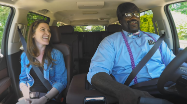 NBA star Shaquille O'Neal goes undercover as a Lyft driver.