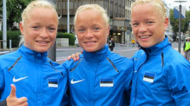 """You can call them, """"The Rio Trio."""" Identical triplets from Estonia hope to make Olympic history at the women's marathon in Brazil this summer."""