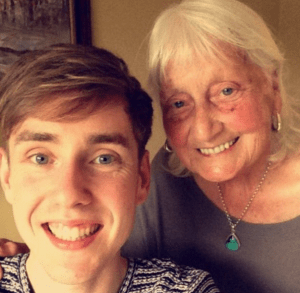 25-year-old Ben John and his 86-year-old grandmother, May Ashworth, who uses good manners when doing her Google search.