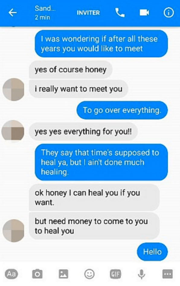 "One clever man in Denmark gets back at a Facebook scammer by replying to their message with lines from Adele's song, ""Hello."""