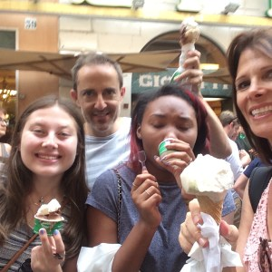 "Nothing says, ""healthy dinner,"" like gelato! My family's travel confession."