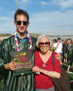 Our mom earlier this summer at my nephew Jack's high school graduation.