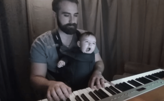 Lullaby Playing Dad Gets Baby Son To Sleep With Love And Piano
