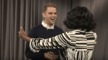 First Lady Michelle Obama surprises folks who think they are recording goodbye tributes to her for Jimmy Fallon and The Tonight Show.