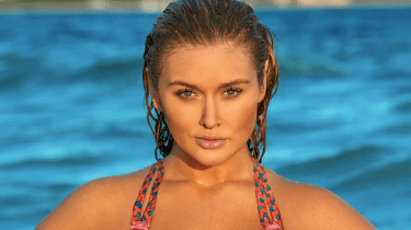 Plus-size model Hunter McGrady says her modeling career took off when she went from size 2 to size 14 and gained weight.