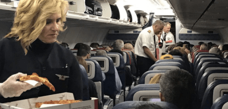 When nasty storms caused a ground stop at Atlanta's Hartsfield-Jackson International Airport, Delta Airlines ordered hundreds of pizzas to deliver to tired, frustrated travelers.