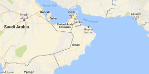 A glimpse at the part of the world where you will find Oman.
