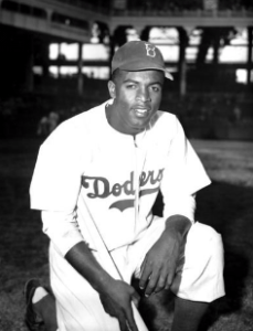 Jackie Robinson broke Major League Baseball's color barrier in 1947.