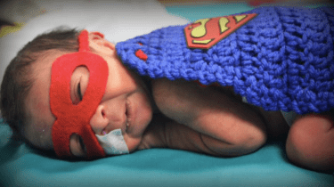 Preemie babies are super heroes for Halloween.
