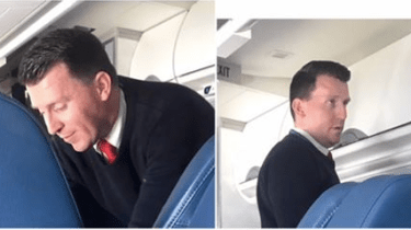 Delta Airlines flight attendant Jeffery Jones commits act of kindness and compassion for a passenger with Parkinson's Disease.