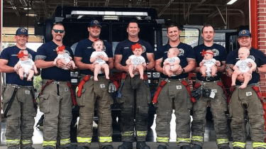 Seven firefighters in the Glenwood Fire Department in Oklahoma have had babies this last year. It's part of an unexplained baby boom in the department.