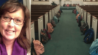 Teacher Tammy Waddell had a final wish--for her friends and family to fill the church at her funeral with backpacks and school supplies instead of flowers.